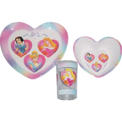 Disney Princess kids tableware set, three pcs.