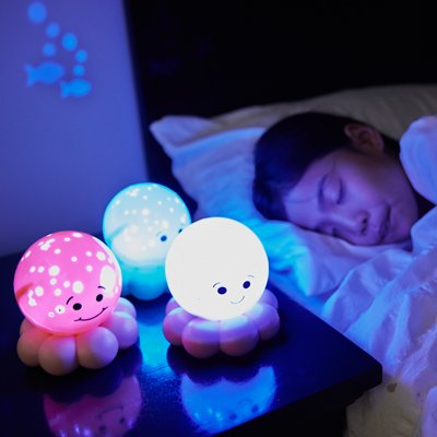 Twinkles To Go Octo magic LED night light - blue ocean - by cloud b