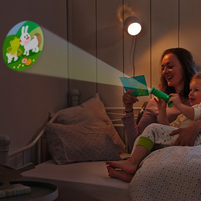 HABA flashlight image projector kiss frog - 1 light 6 images