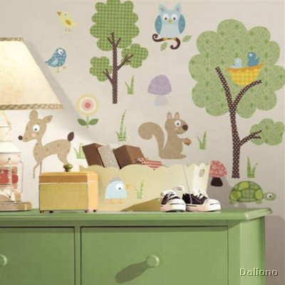 Woodland Animals Wandsticker - RoomMates