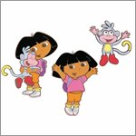 Dora the Explorer 3 teilige Wanddekoration - Decofun