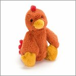 Bashful rooster small - cuddly toy from Jellycat